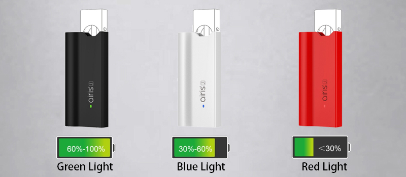 Smart Tricolor LED indicator for the battery life