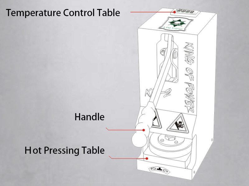 more on LTQ Vapor Rosin Press Machine KP-2 1