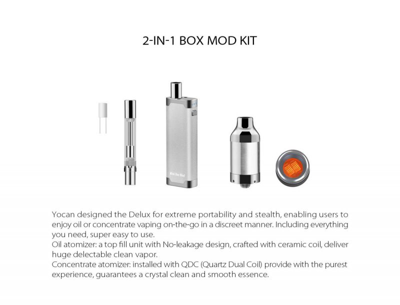more on Yocan Delux 2 in 1 Vaporizer 2