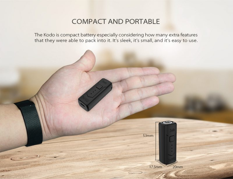 more on Yocan Kodo 510 Battery 400mAh Box Mod 9