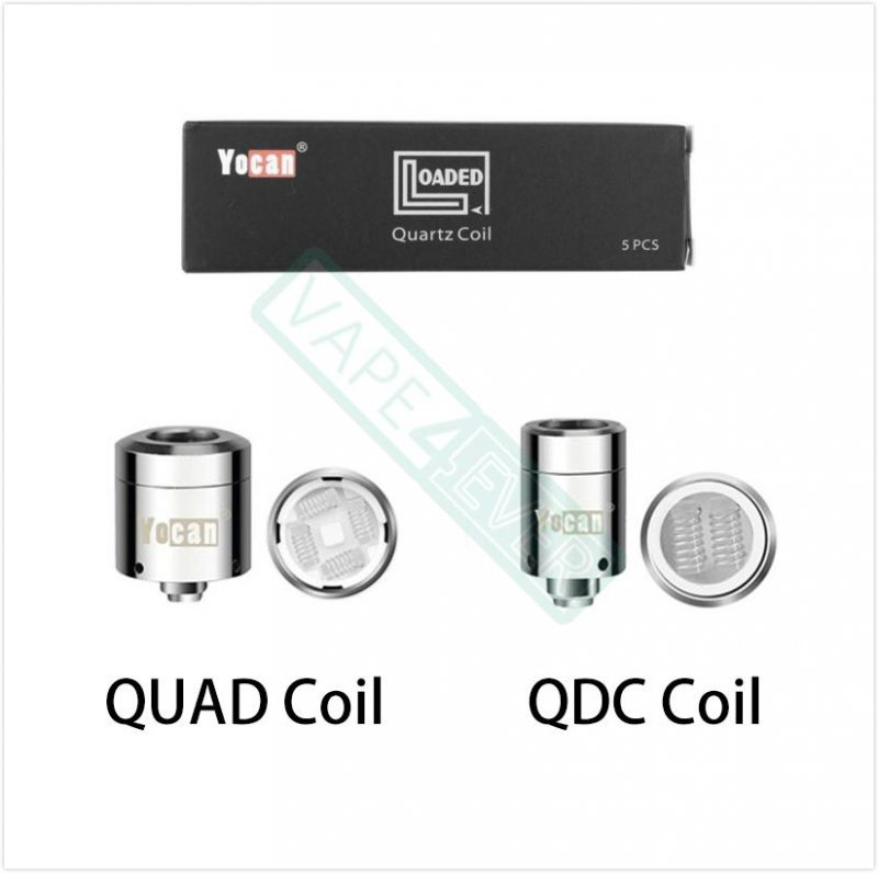 Yocan Loaded Replacement Coil QUAD Coil/QDC Coil 5pcs/pack Instruction