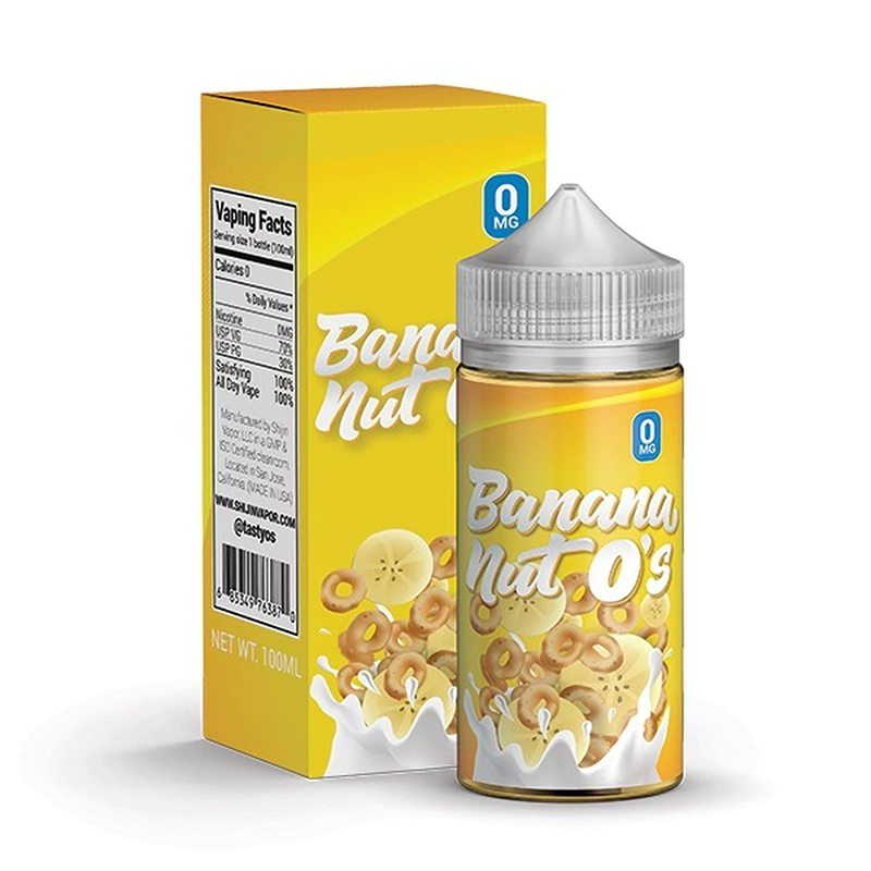 Tasty O's Vape Juice - Banana Nut O's 0