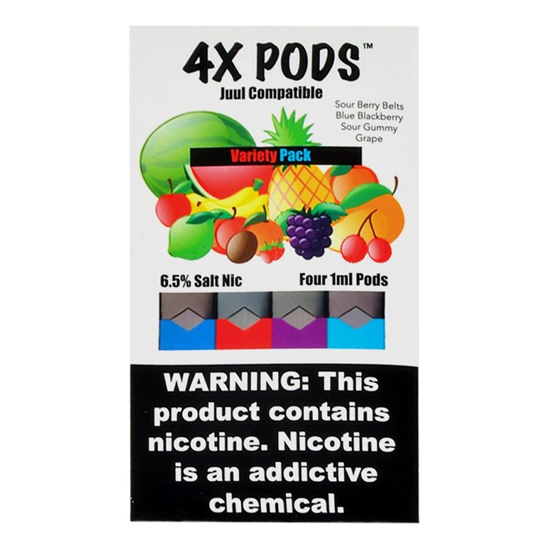 Variety Pack - 4X Pods Juul Compatible 0