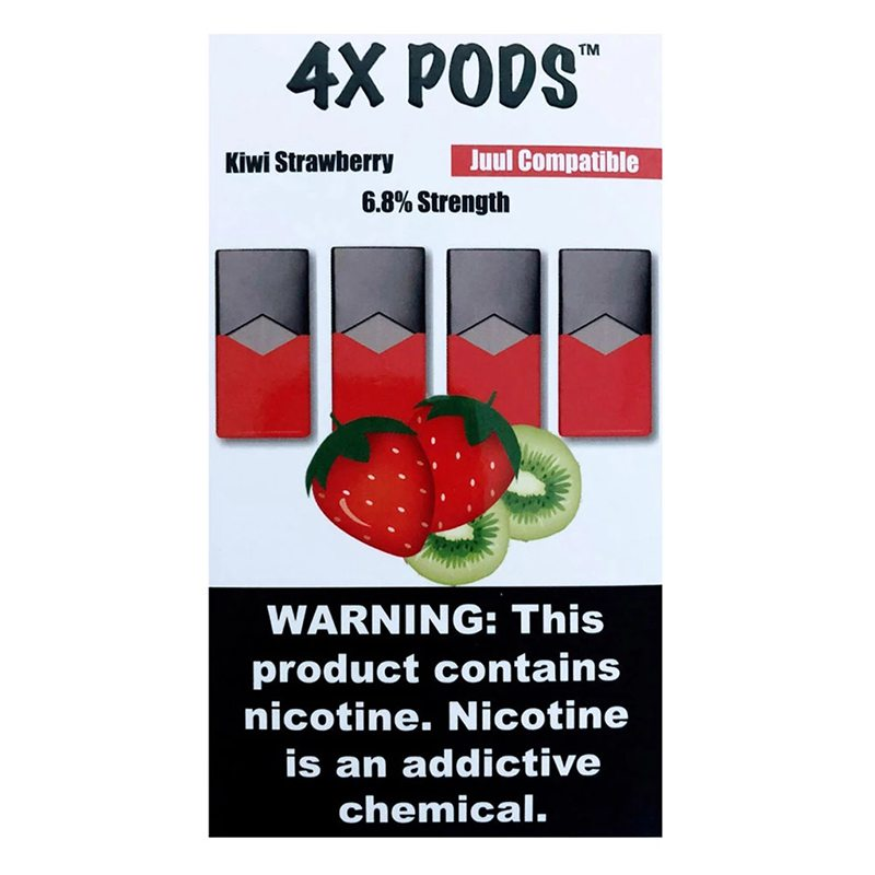 Kiwi Strawberry - 4X Pods Juul Compatible 0