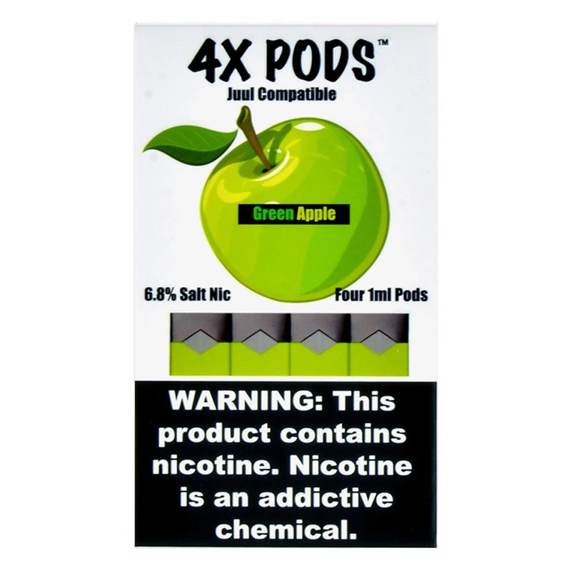 Green Apple - 4X Pods Juul Compatible 0