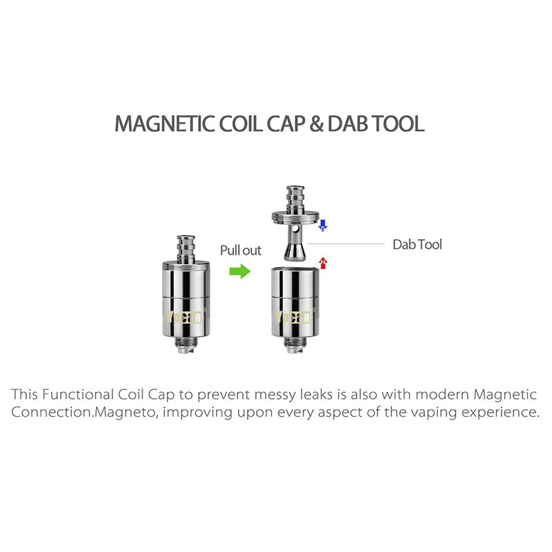 Yocan Magneto Replacement Coil & Cap 1