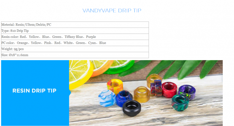 Vandy Vape 810 Drip Tip (18mm/Goon) 0