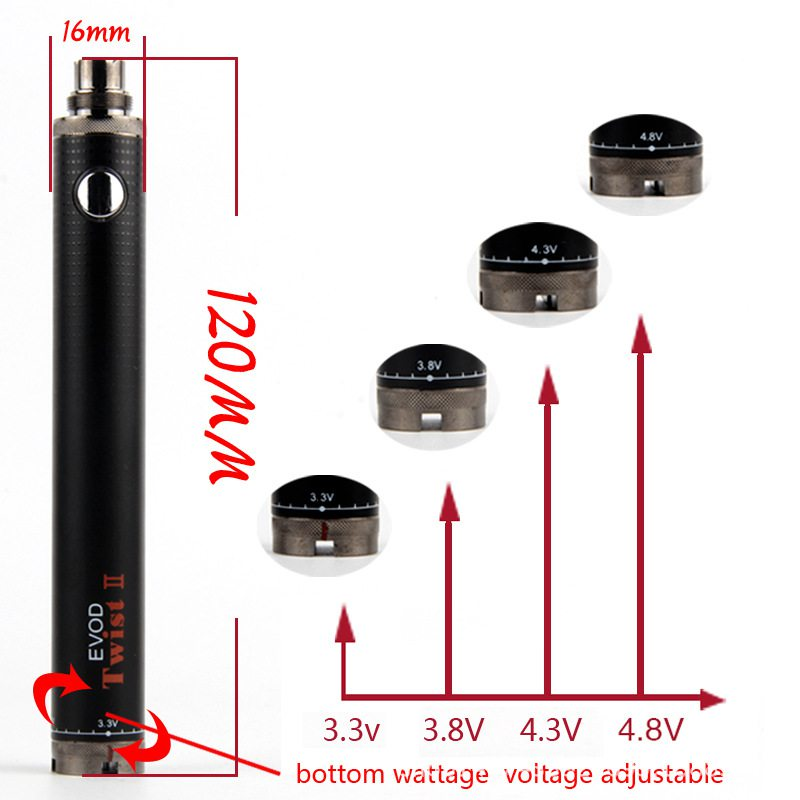Evod Twist II Battery 0