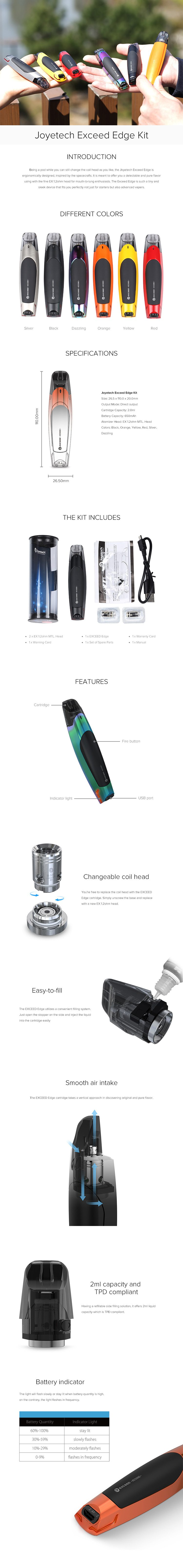 Joyetech EXCEED Edge Pod System Kit (2ml&650mah) 0