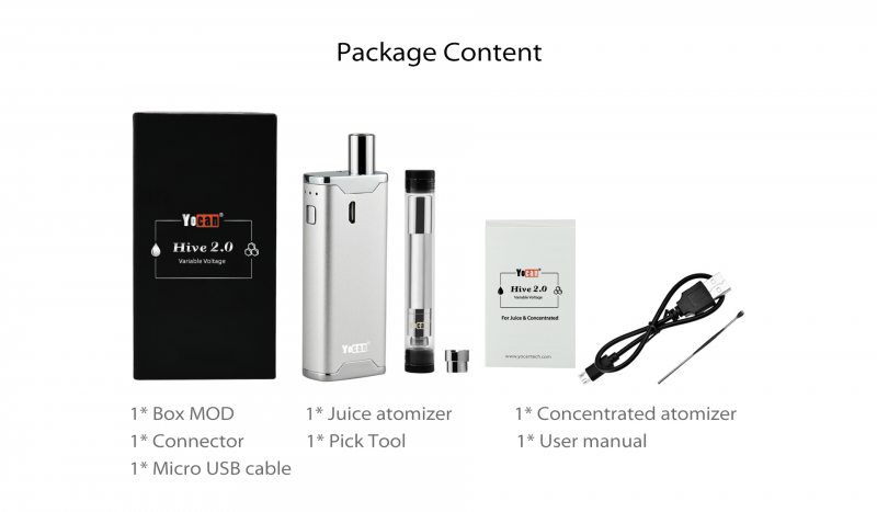 Yocan Hive2 All-in-One Starter Kit-For Wax CBD 7