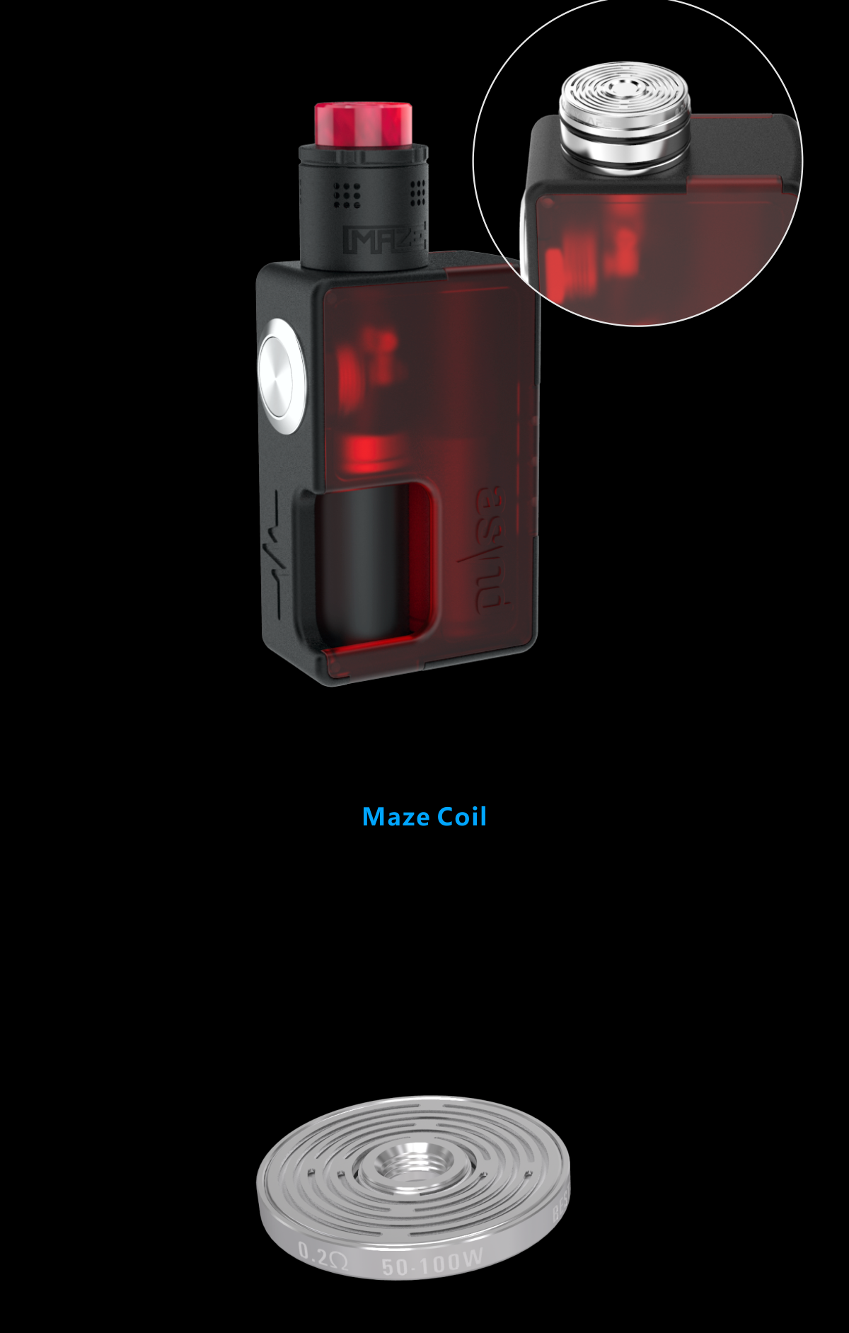 Vandy Vape Maze BF RDA Tank(2ml/24mm)-For Squonk BF Box Mod 2